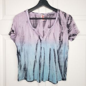 Free people ombre tie dye v neck shirt